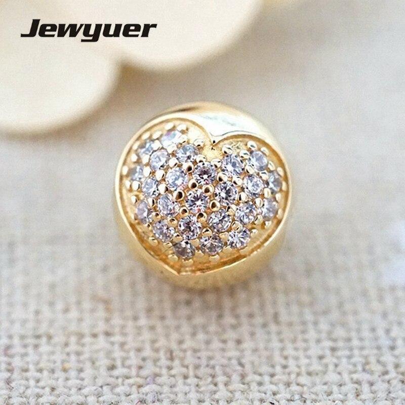 Amore della mia Vita di Fascino 14 k solid gold clip del cuore del branello 925 bracciali in argento sterling FAI DA TE per le donne memnon commercio all'ingrosso GD060