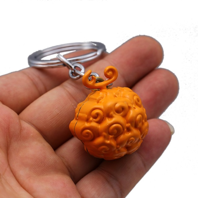 One Piece Luffy Ace Law Devil Fruit Metal Key Ring