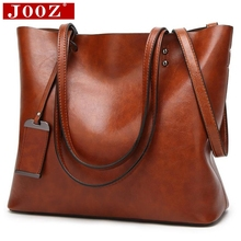 JOOZ Waxing Leather bucket bags Simple Double strap female shoulder bags For Women Messenger Bags Lady All Purpose Shopping tote