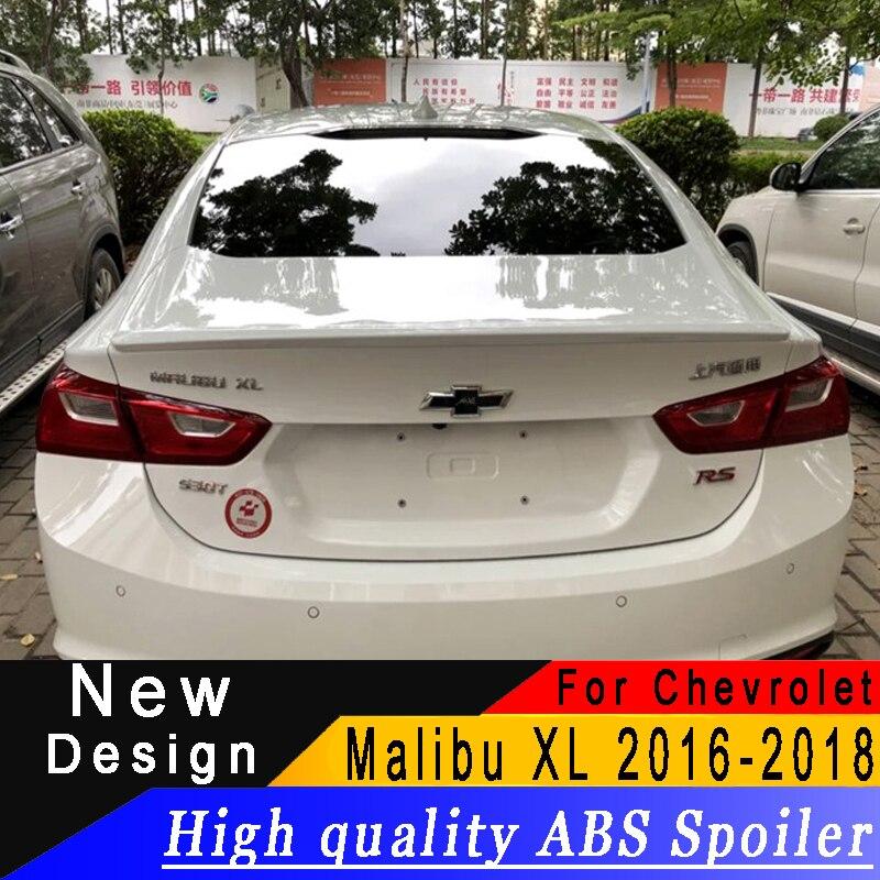 Pour Chevrolet Malibu XL 2016 2017 2018 Spoiler apprêt ABS de haute qualité ou tout Spoiler arrière de voiture de couleur pour Malibu XL