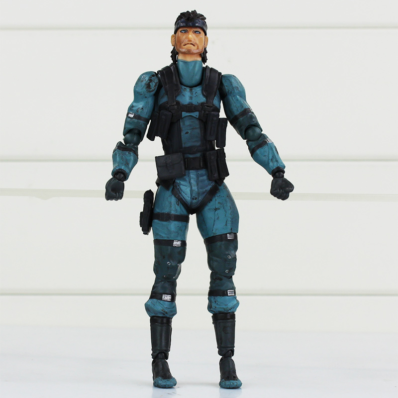 16CM METAL GEAR SOLID 2: SONS OF LIBERTY Anime Games Figma 243 Snake Solid PVC Action Figure Model Toys new metal gear solid v action figure toys 16cm mgs snake figma model collectible doll mgs figma figure kids toys christmas gifts