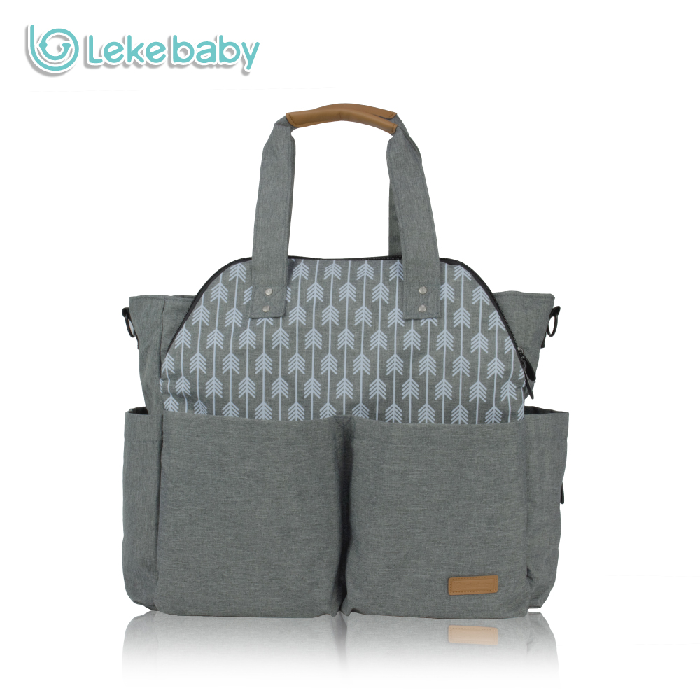 Lekebaby Ultra large Capacity Travel Diaper Tote Bag Mummy Maternity Nappy Changing Bag with Stroller Straps