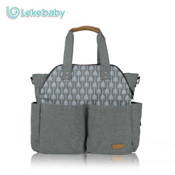 Lekebaby Ultra-large Capacity Travel Diaper Tote Bag Mummy Maternity Nappy Changing Bag with Stroller Straps  for Baby Care - DISCOUNT ITEM  37% OFF All Category
