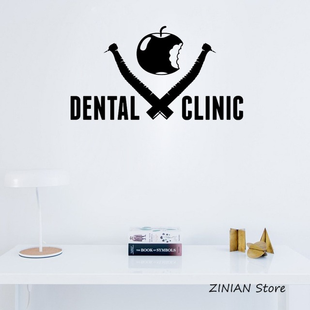 Dental clinic sign wall sticker stomatology vinyl window decal logo design healthcare waterproof new arrival dentist