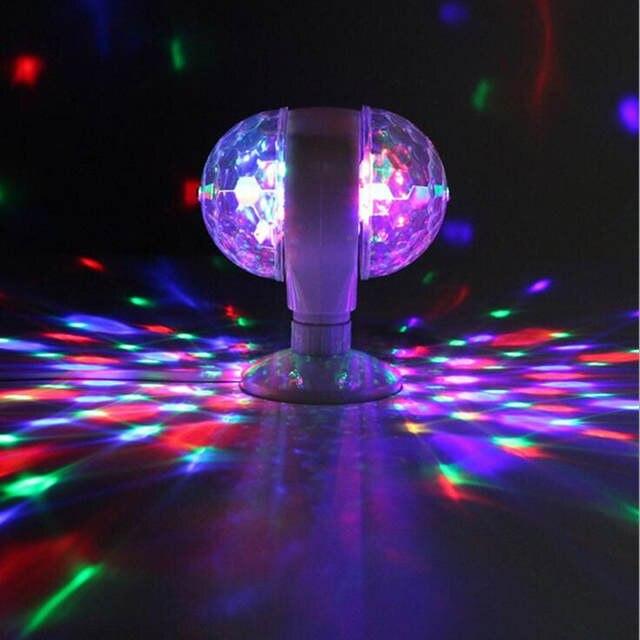 Crystal Rgb E27 Led Bulb Colorful Magic