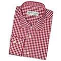 Настроить Повседневная Красный Плед Рубашки С Длинным Рукавом Мужчины Рубашка Повседневная Slim Fit Мужские Рубашки Весна Хлопок Размер XXS-4XL