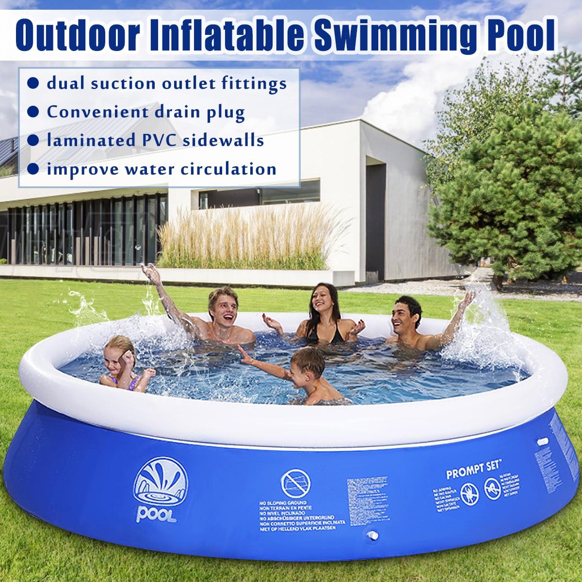 Новый летний водные виды спорта для маленьких детей надувные бассейн из ПВХ Портативный плавание семья играть бассейн дети для ванной Ванн...