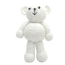 Одежда высшего качества для новорожденных девочек и мальчиков, вязаная крючком, с медведем, для фотосъемки, милый подарок