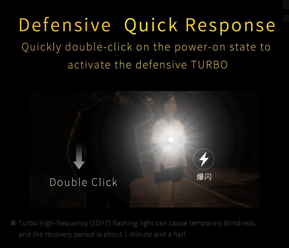 NA ESTRADA i3 Mini Zoom lanterna recarregável