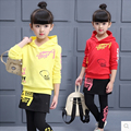 Children's clothing 2017 spring girls sets 2pcs  hoodies & culotte child casual sweatshirt thin twinset  kids girls sets 4-12Y