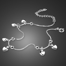 Fashion women 925 silver chains, beautiful heart-shaped pendant solid the gift in summer