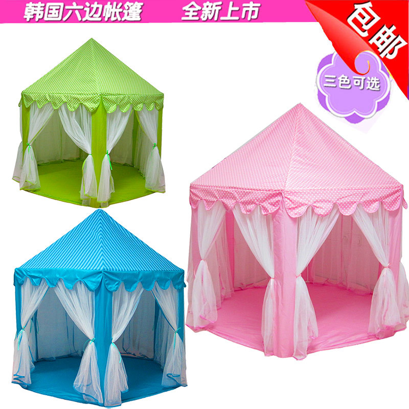 Children's Tent Game Room Toy House Mosquito Net Hexagonal Princess Castle Large Tulle