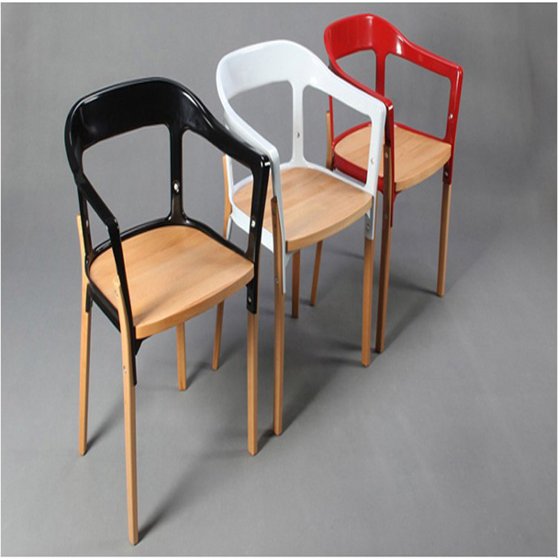 Wood Steel Dining Room Chairs: 2 X Bouroullec Steelwood Chair. Dinning Chairs.Dinning