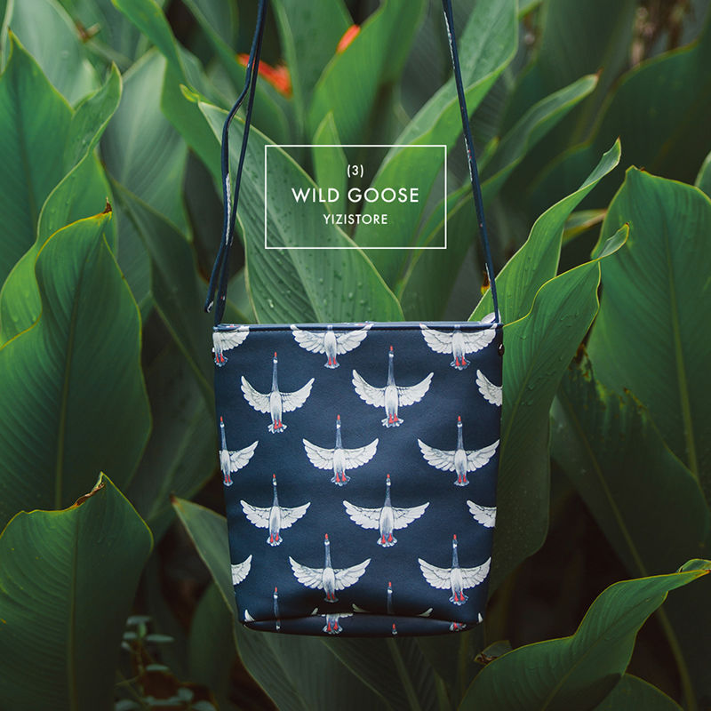 YIZI PU bucket messenger bags in birds in your bag series FUN KIK