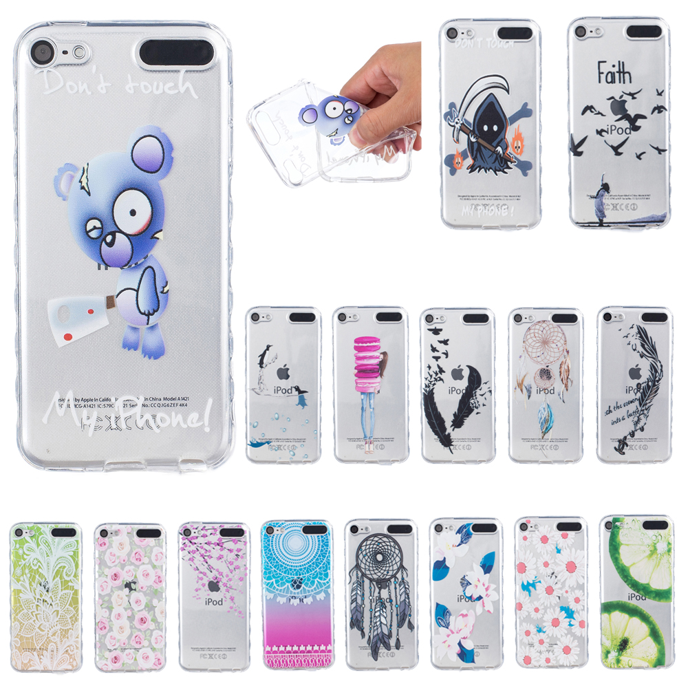 For apple ipod touch 5 6 case cute silicone back phone for Housse ipod touch 5