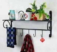 Bathroom supplies storage rack bathroom shelf towel rack wall single tier iron bathroom shelf