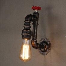 цены American Vintage Industrial Wrought Iron Water Pipe Wall Lamps Aisle Restaurant bar E27 Edison Loft Wall Lamp