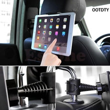 OOTDTY NEW Universal Back 360 Degree Rotation Adjustable Car Seat Headrest Mount Holder Stand For Samsung/iPad GPS Tablet PC