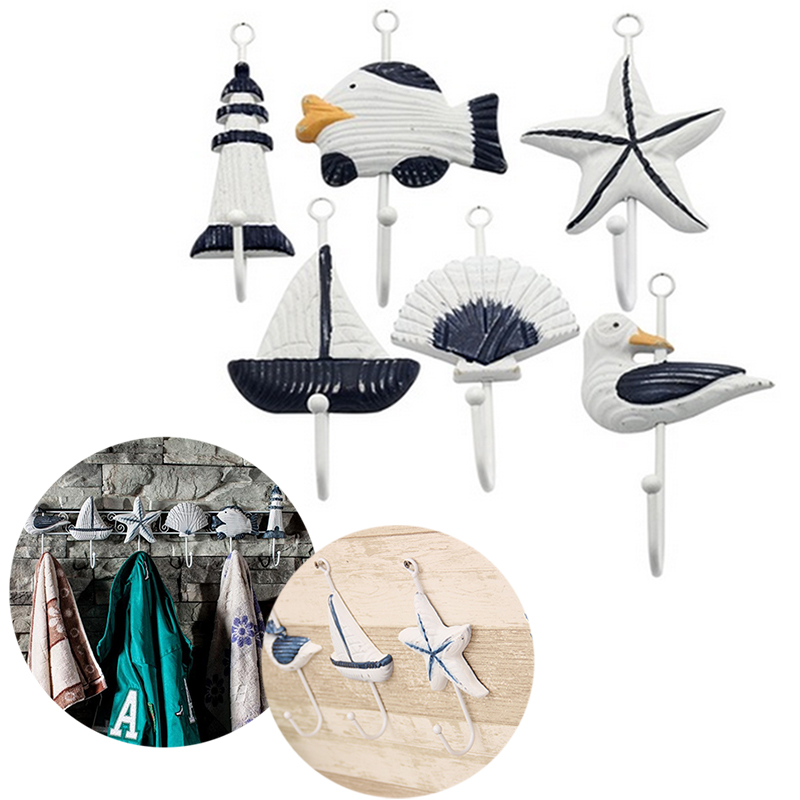 Italian Ocean Boat Starfish Beacon Home Decor Bathroom Wall Hanger Hook
