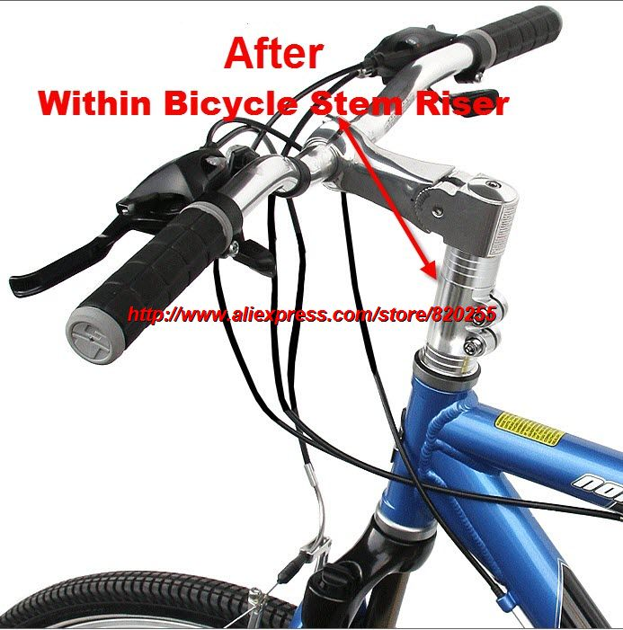 Bike Bicycle Handlebar Fork Stem Riser Rise Up Extend Extender Head Up Adaptor