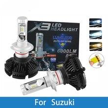 LED Car Headlight Bulb H4 H7 H11 H1 H3 12V Auto Lamp For Suzuki Sidekick/Samurai/Reno/Kizashi/Forenza/Esteem/Aerio/Carry/Vitara цены