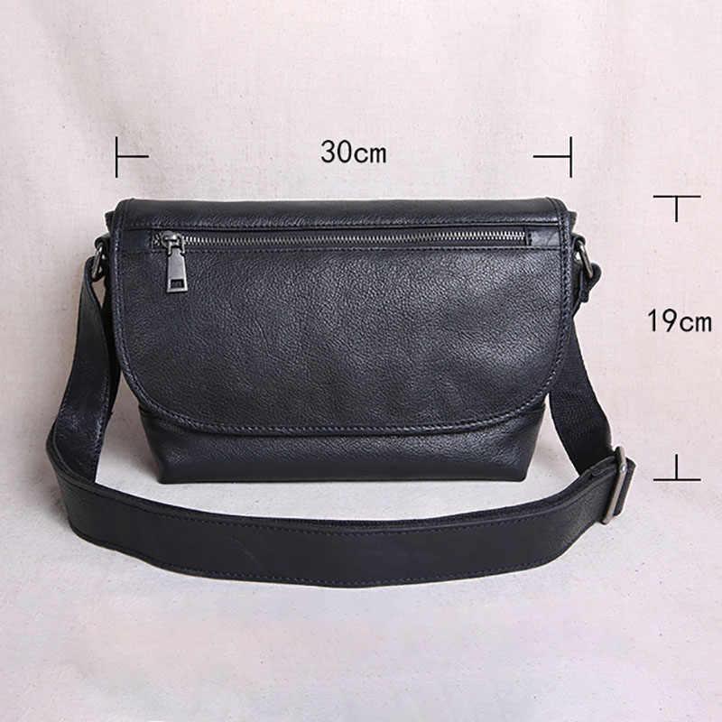AETOO sacos dos homens de Couro, um-ombro tendência sacos inclinados, estudante ocasional sacos carteiro, sacos de couro dos homens