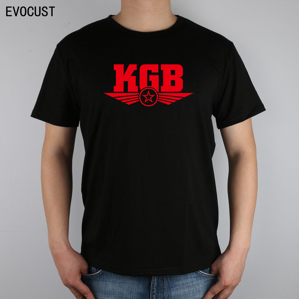 Black t shirt security - Kgb Committee For State Security Css Cccp T Shirt Top Lycra Cotton Men T Shirt