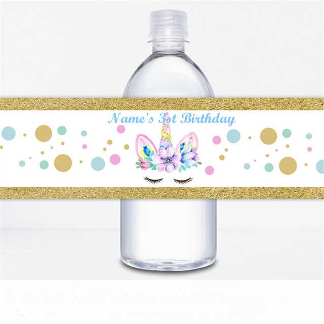 Aliexpress Com Buy Customized Personalized Unicorn Party Water