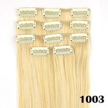 5pcs/set, straight synthetic hair, aplique de cabelo, clip in hair extensions, color 1003