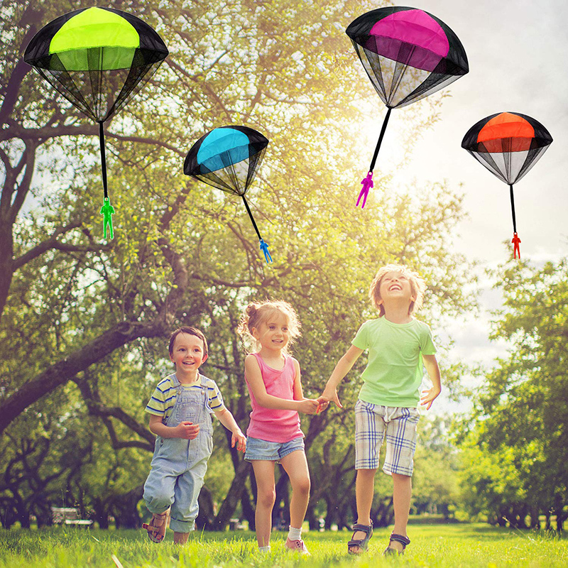 Hand Throwing Mini Soldier Parachute Funny Toy Kid Outdoor Game Play Educational Toys Fly Parachute Sport for Children Toy 5