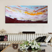 Above the Cloud Acrylic Paint Home Decoration Oil Painting  on canvas hight Quality Hand-painted Wall Art 24X48 inch ,36X72 inch