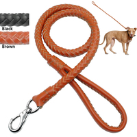 Zaokrąglone Walcowane pleciony Liny Smycz Psa Pet Lead dla Średnich i Dużych Psów Szkolenia i Walking 3/4