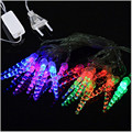 2016 10M 50 LED Changable AC110V/220V  Icicle Christmas String Lights Wedding  Party Fairy Decoration Lights Outdoor  Lighting