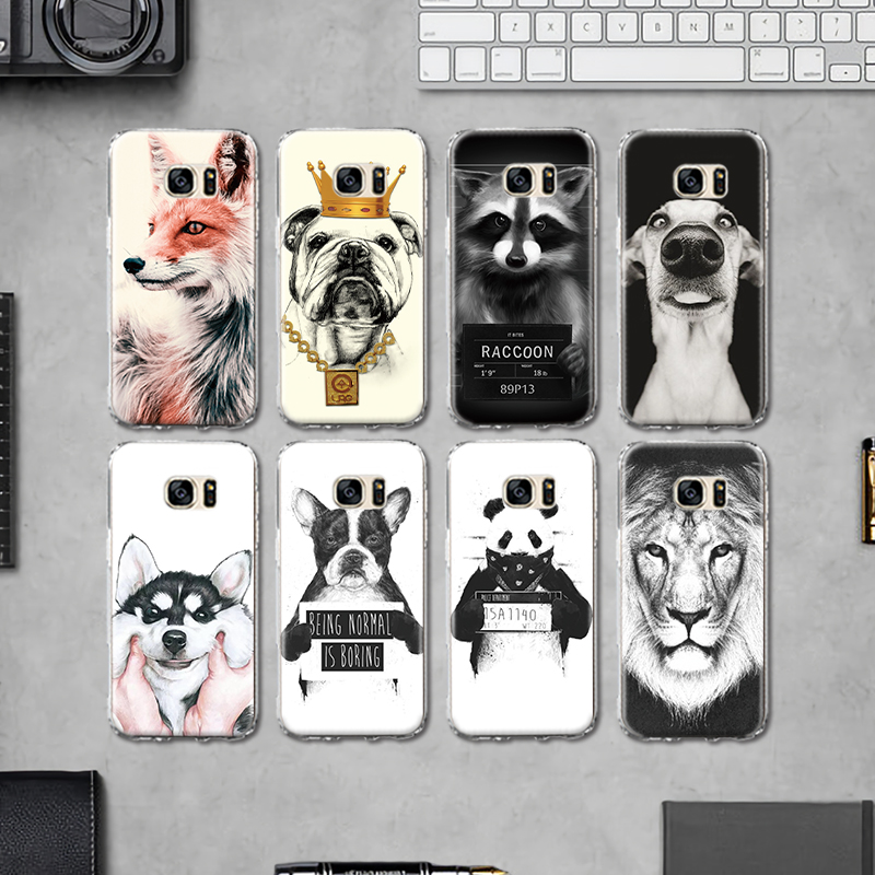 Cool Animal Panda Husky Puppy Cover For Samsung Galaxy S4 S5 Mini S6 S7 Edge S8 S9 Plus Grand Prime Note 4 5 8 Silicone Case Phone Pouch Cellphones & Telecommunications