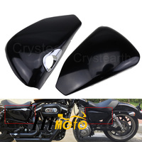 For Harley Sportster XL883 XL1200 2004 2013 BLACK Motorcycle Left Side Battery Cover & Right Side Oil Tank Cover Fairing Guard