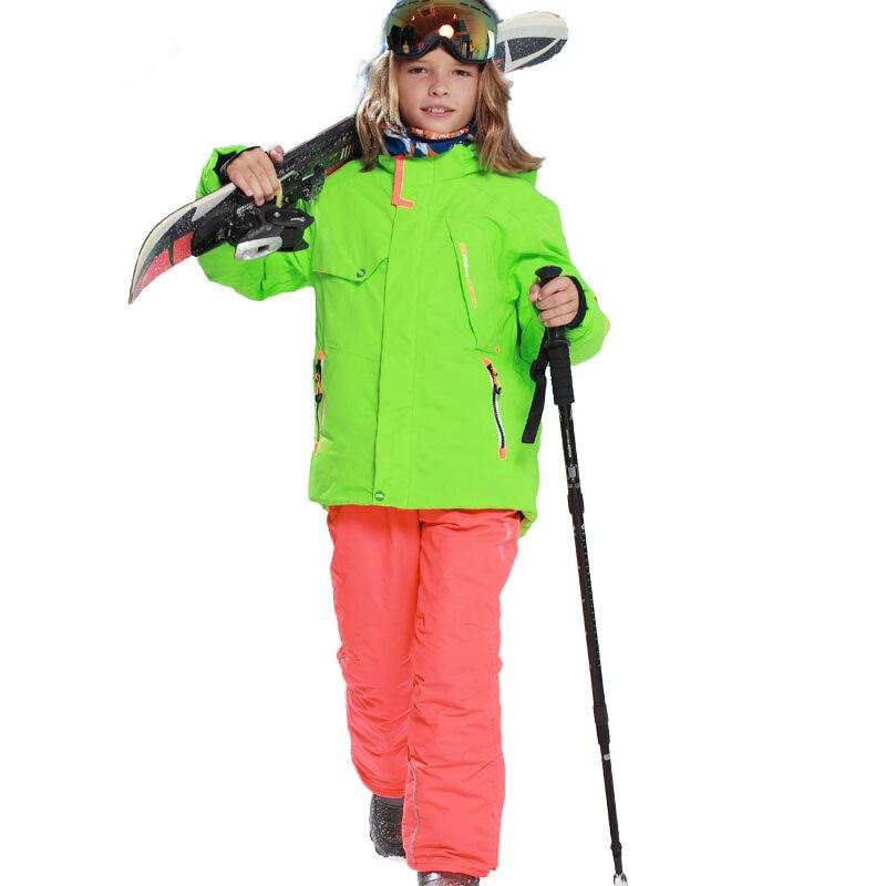 Prix pour Garçons veste de Ski coupe - vent imperméable enfants Snowboard veste de neige veste - 30 grau