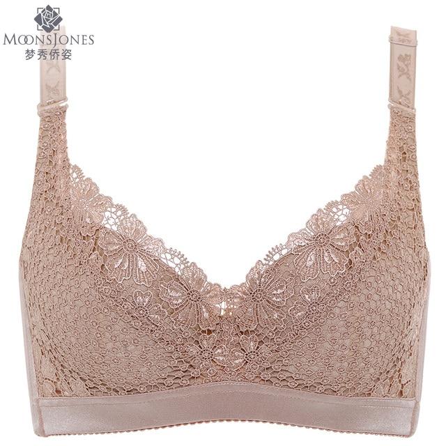 0ead53db159 plus size 46E thin cotton cup push up bra lace bralette soutien gorge  brassiere intimates bras