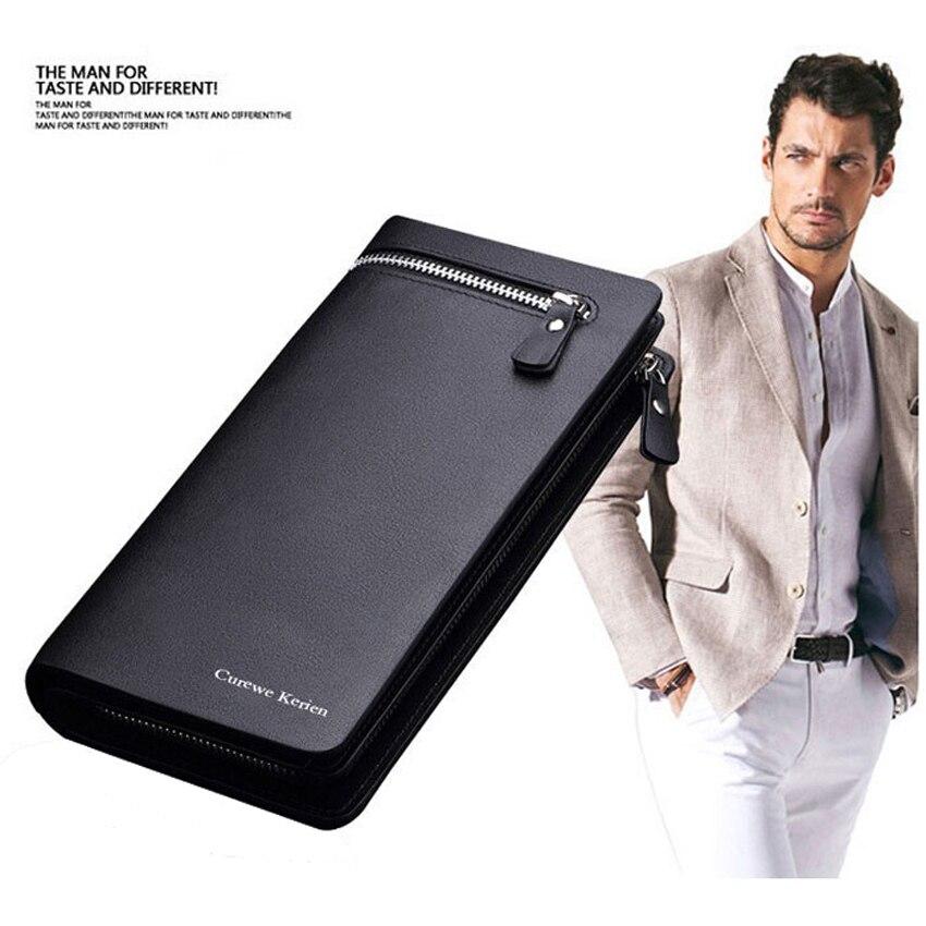 Hurtownie mężczyźni portfele wysokiej jakości prawdziwej SKÓRZANY PORTFEL luksusowa torebka portfel mężczyzn 100 sztuk/partia w Portfele od Bagaże i torby na  Grupa 1