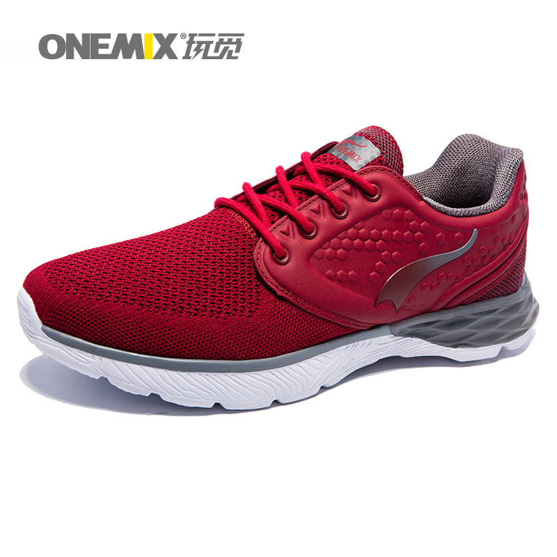 ONEMIX Men sneakers athletic sport running male shoes breathable man trainers mesh vamp for outdoor sports jogging walking shoes 2016 sale hard court medium b m running shoes new men sneakers man genuine outdoor sports flat run walking jogging trendy