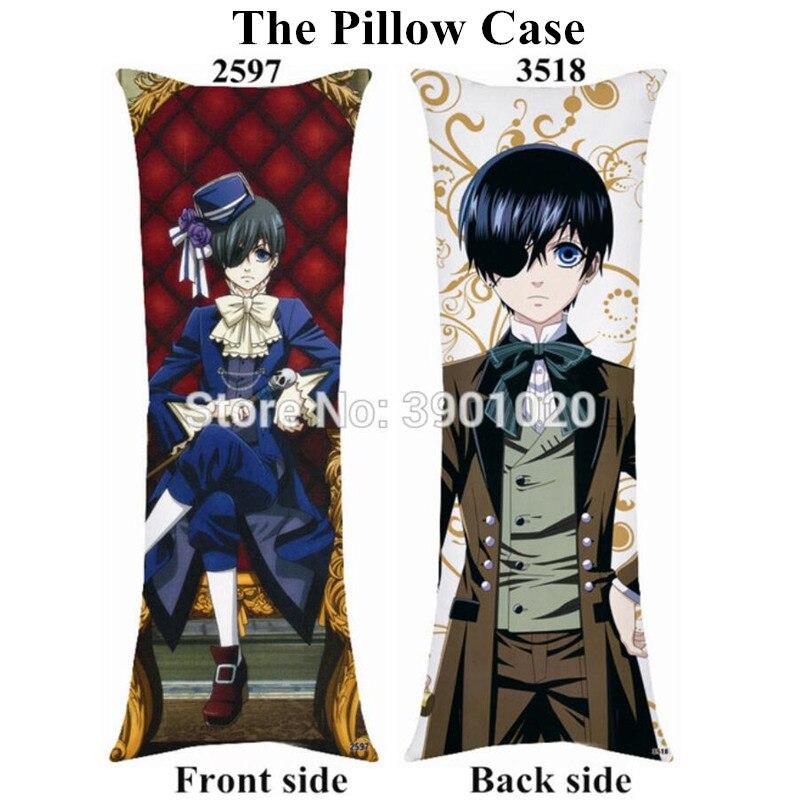 Anime Black Butler Sebastian//Ciel Hugging Body Pillow Case Cover 35*55cm#CM-486