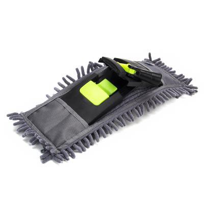 Швабра с выдвижной ручкой и тряпка из микрофибры для чистки и уборки дома - 5