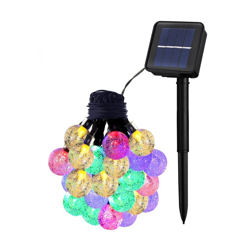 30 LEDs 6M Crystal Ball Solar Lamp Power LED String Fairy Lights Solar Garlands Garden Christmas Decor For Outdoor