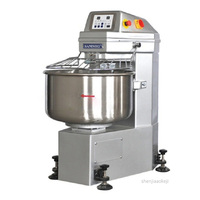 Touch screen computer control panel flour mixing machine two speed hook and bowl double rotate dough kneading stir mixer 380V