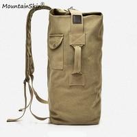 Mountainskin Large Capacity Men Women Travel Bag Military Tactical Backpack Army Bags Canvas Bucket Shoulder Bag Brand LA760