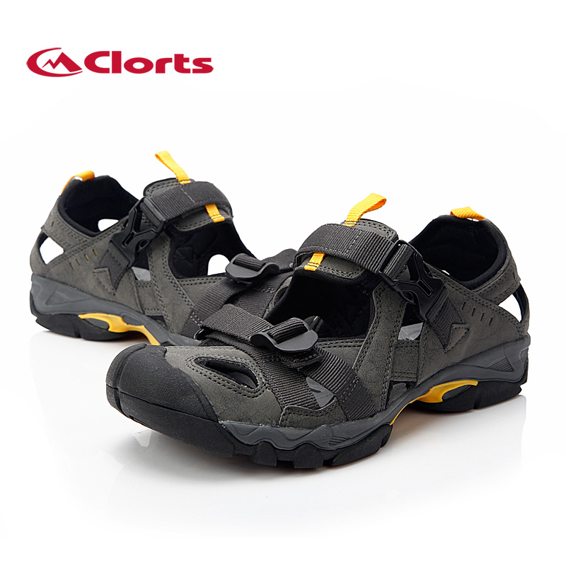 2018 Clorts Mens Sports Sandal Summer Beach Shoes Outdoor Quick Dry Breathable Sandals PU Mesh For Men Free Shipping SD-206C/D