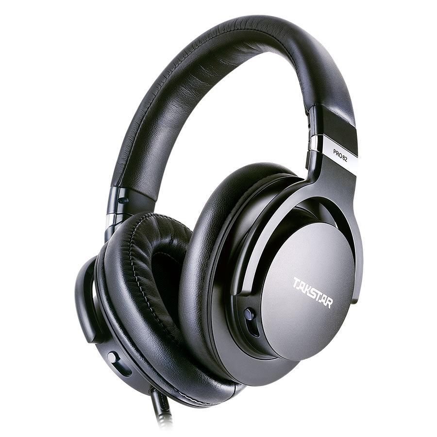 Takstar PRO82 Professional Reference Monitor Headphone Bass Adjustment Dynamic Studio DJ Headset Over Ear Noise Cancelling dj headset takstar t