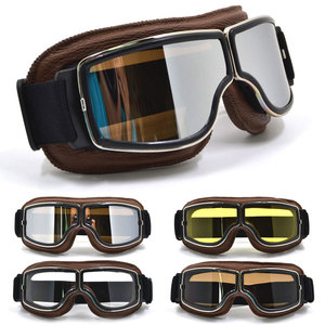 Image 2 - מוטוקרוס משקפי Moto אופני משקפיים טרקטורונים Lunette אופנוע קסדת משקפיים gafas משקפי וינטג Steampunk משקפי w/תיק