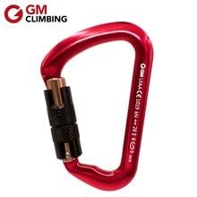GM CLIMBING Carabiner CE / UIAA 28kN Auto Locking Safety Buckle D Carabiner Rappel Rescue Mountaineering Equipment набор для путешествий carabiner d cimbing edcgear se063
