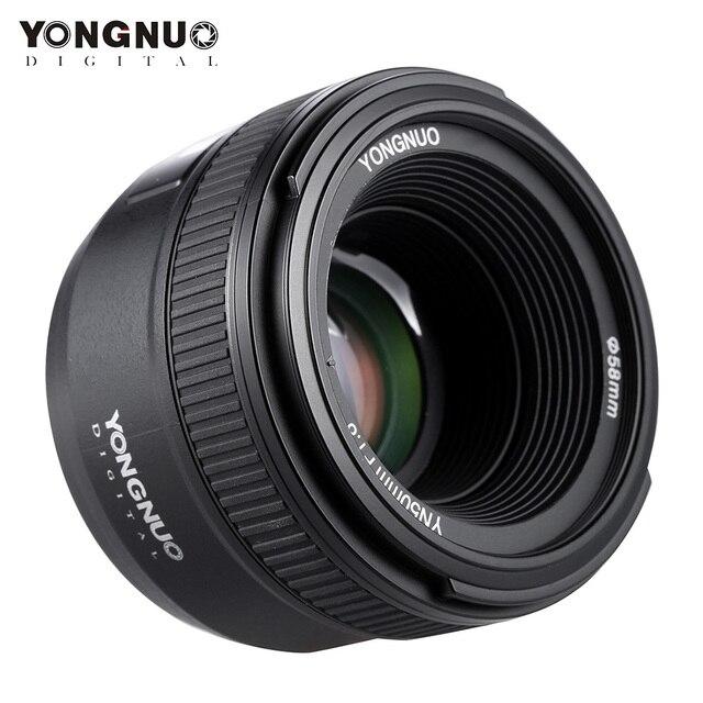 YONGNUO YN50mm F1.8 Lớn Khẩu Độ Tự Động Lấy Nét Ống Kính Cho Nikon D800 D300 D700 D3200 D3300 D5100 D5200 D5300 DSLR Máy Ảnh ống kính
