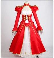 アニメ運命ステイナイトセイバー余分なフィギュア赤い制服コスプレ衣装フルセットドレ